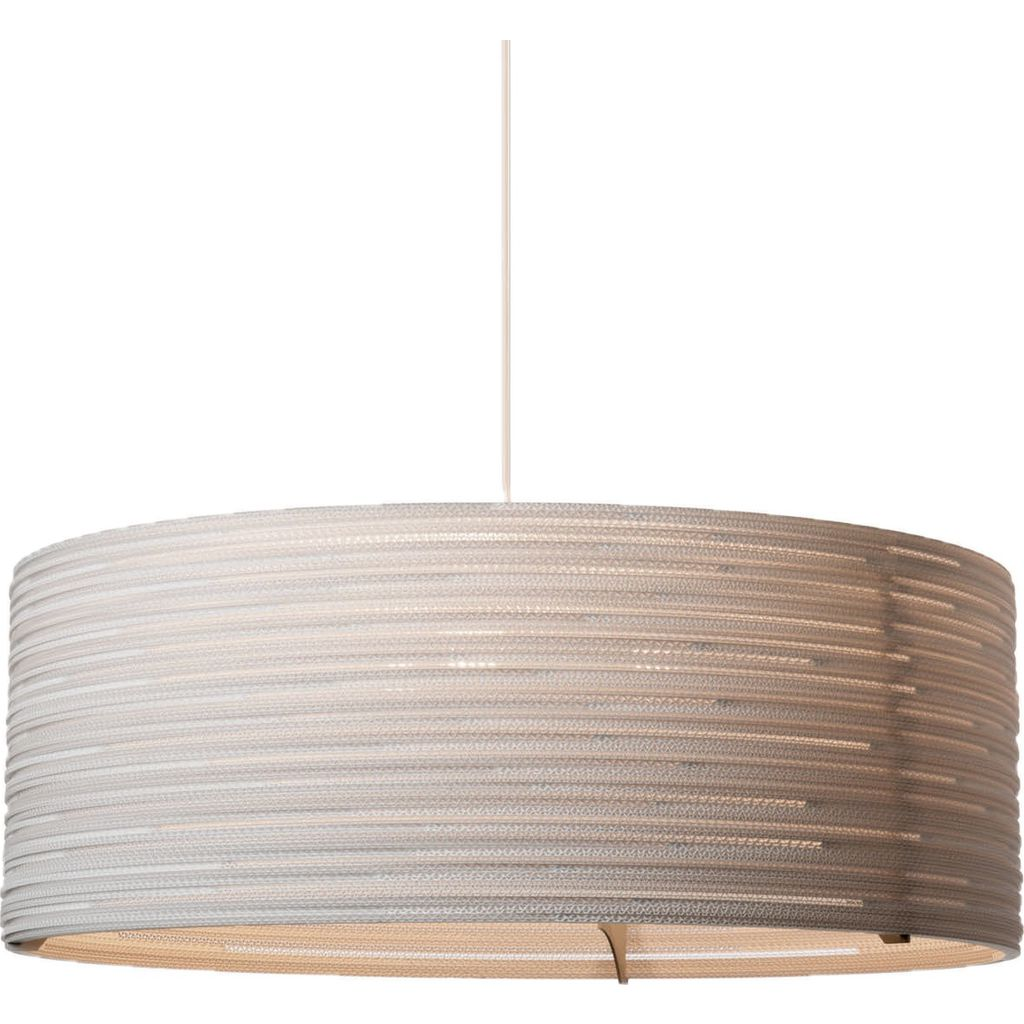 Graypants Scraplight Drum 36 Pendant | White