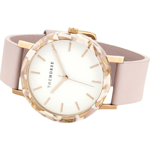 The Horse Resin Pink Nougat Watch | White/Light Pink E5