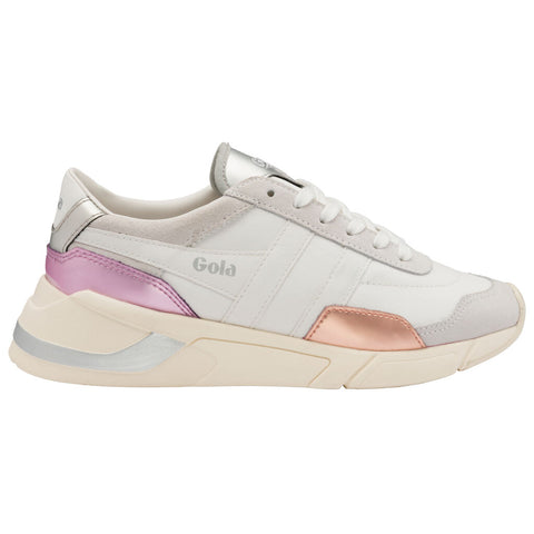 Gola Women's Eclipse Trident Sneaker | White/Pink/Lilac
