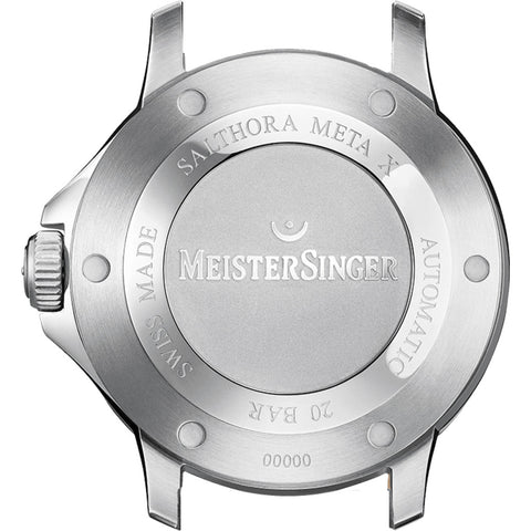 MeisterSinger Salthora Meta X Transparent Watch - Transparent Dial