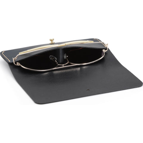 Ezra Arthur Optical Case | Jet Top Stitch Edc105
