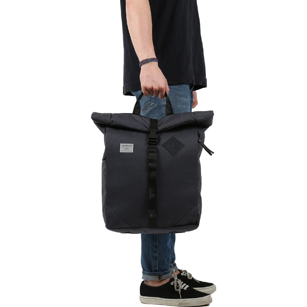 Sandqvist Eddy Rolltop Backpack | Dark Grey
