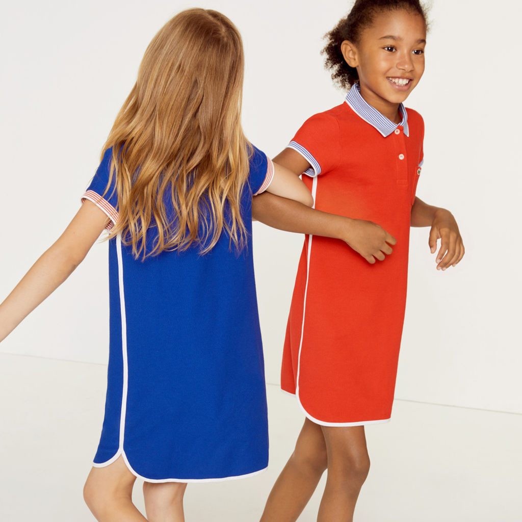 01c67461 Lacoste Girls's Pique Polo Dress | adx salvia- ej4474 girl semi fancy pique  polo dress_10YR ...