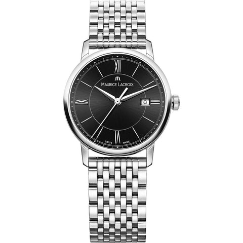 Maurice Lacroix Eliros Date 30mm Watch | Black/Silver EL1094-SS002-310-1