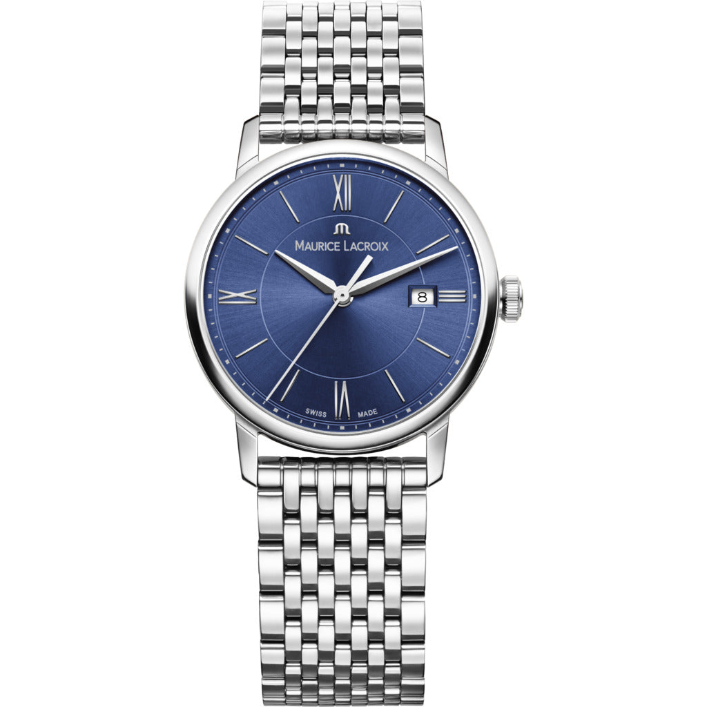 Maurice Lacroix Women's Eliros Date 30mm Watch | Blue/Silver EL1094-SS002-410-1