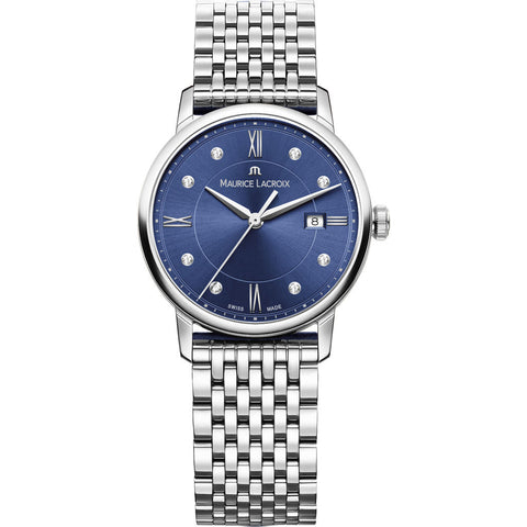 Maurice Lacroix Women's Eliros Date 30mm Mother of Pearl Watch | Blue EL1094-SS002-450-1