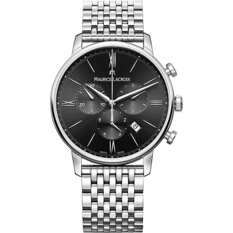Maurice Lacroix Eliros Chronograph 40mm Watch | Black/Silver EL1098-SS002-310-2