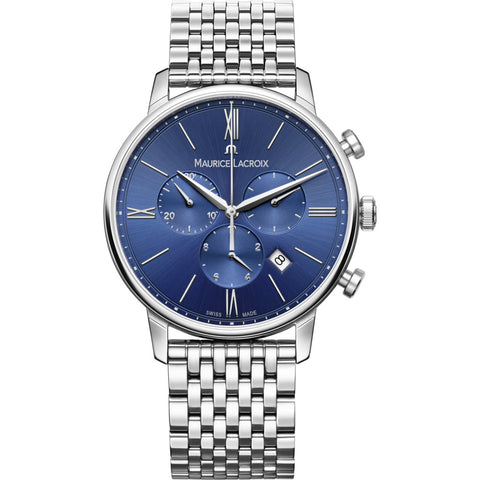 Maurice Lacroix Eliros Chronograph 40mm Watch | Blue/Silver EL1098-SS002-410-2