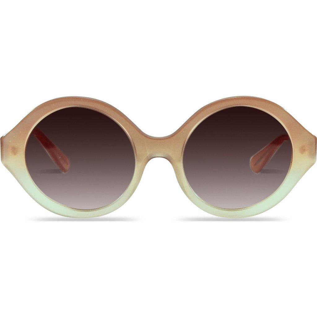Velvet Eyewear Elaine Toastie Almond Sunglasses | Brown Fade V018TA01