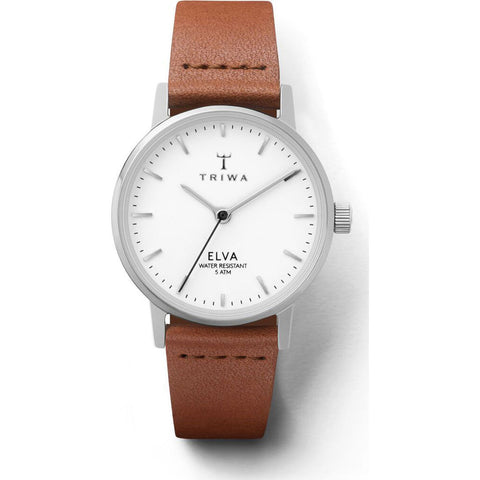 Triwa Pearl Elva Watch | Petite Brown ELST101-EL10212