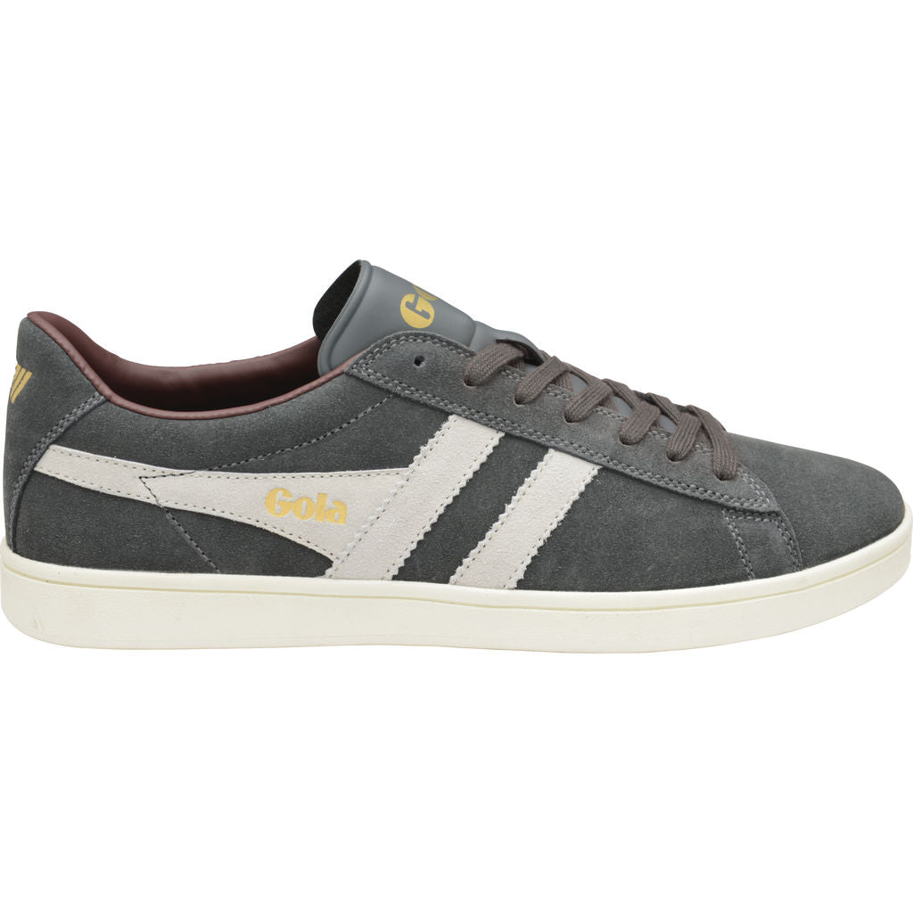 Gola Men's Equipe Suede Sneakers | Graphite/White/Burgundy