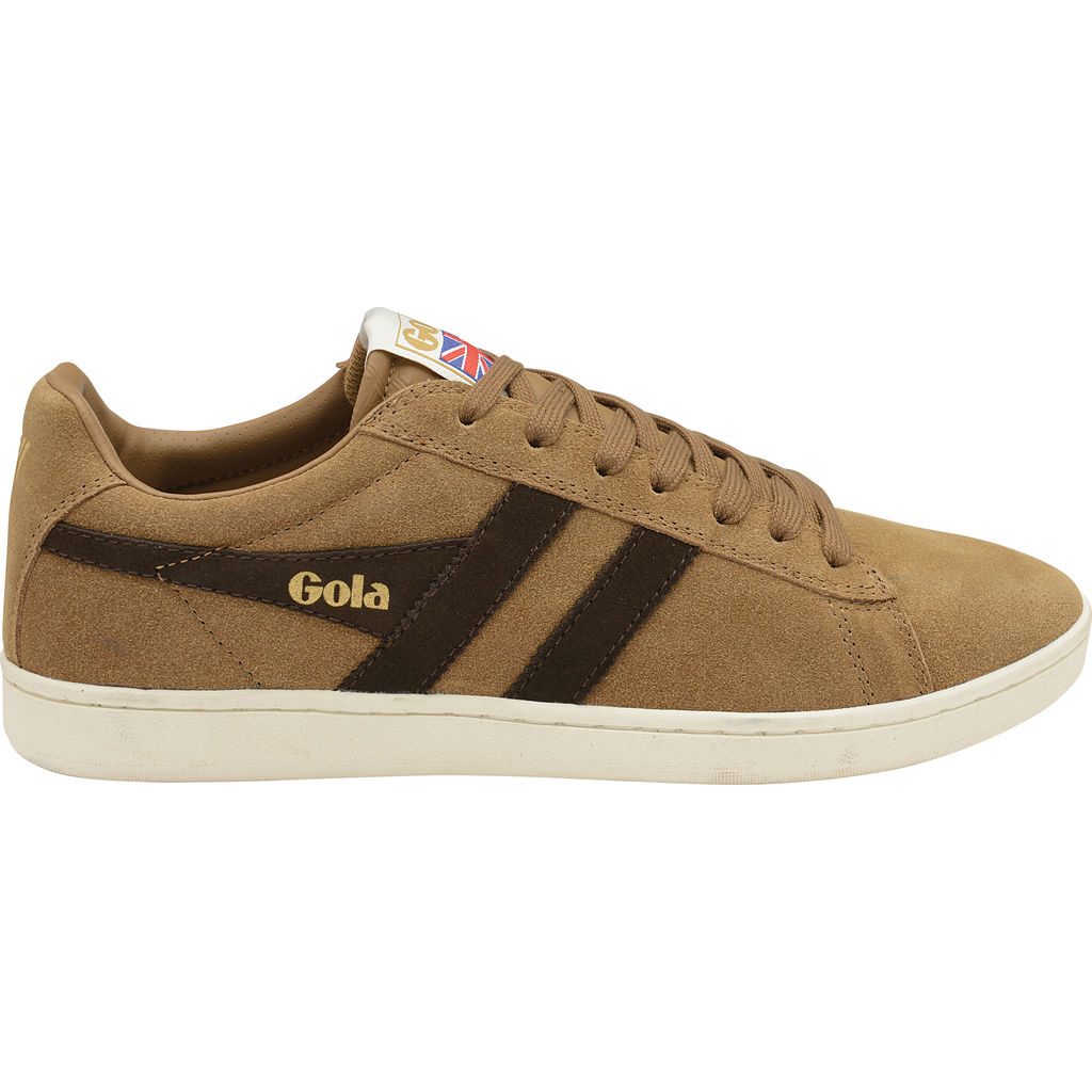Gola Men's Equipe Suede Sneakers | Tobacco/Dark Brown/Off White