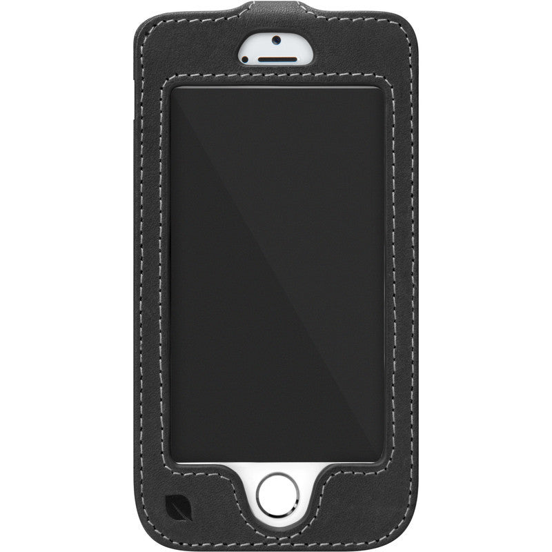 Incase Leather Fitted Sleeve for iPhone 5s/5c | Black/Tan ES89058