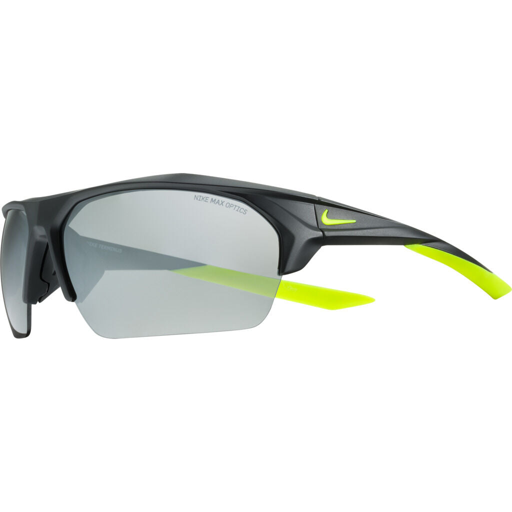 Nike Terminus Sunglasses|Matte Black/Volt Grey W/ Silver Flash  EV1030-070