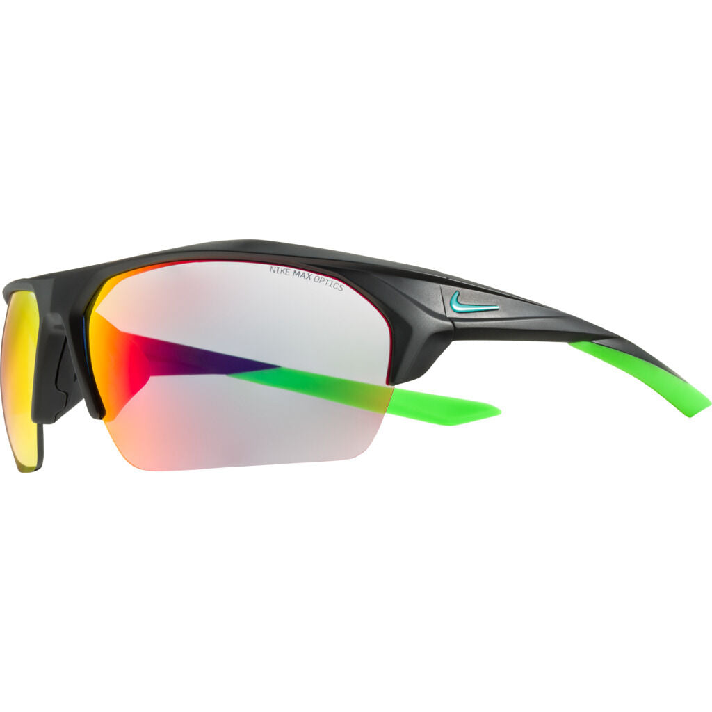 Nike Terminus Mirrored Sunglasses|Matte Black / Neptune Green  Grey W/ Infrared Mirror EV1031-036