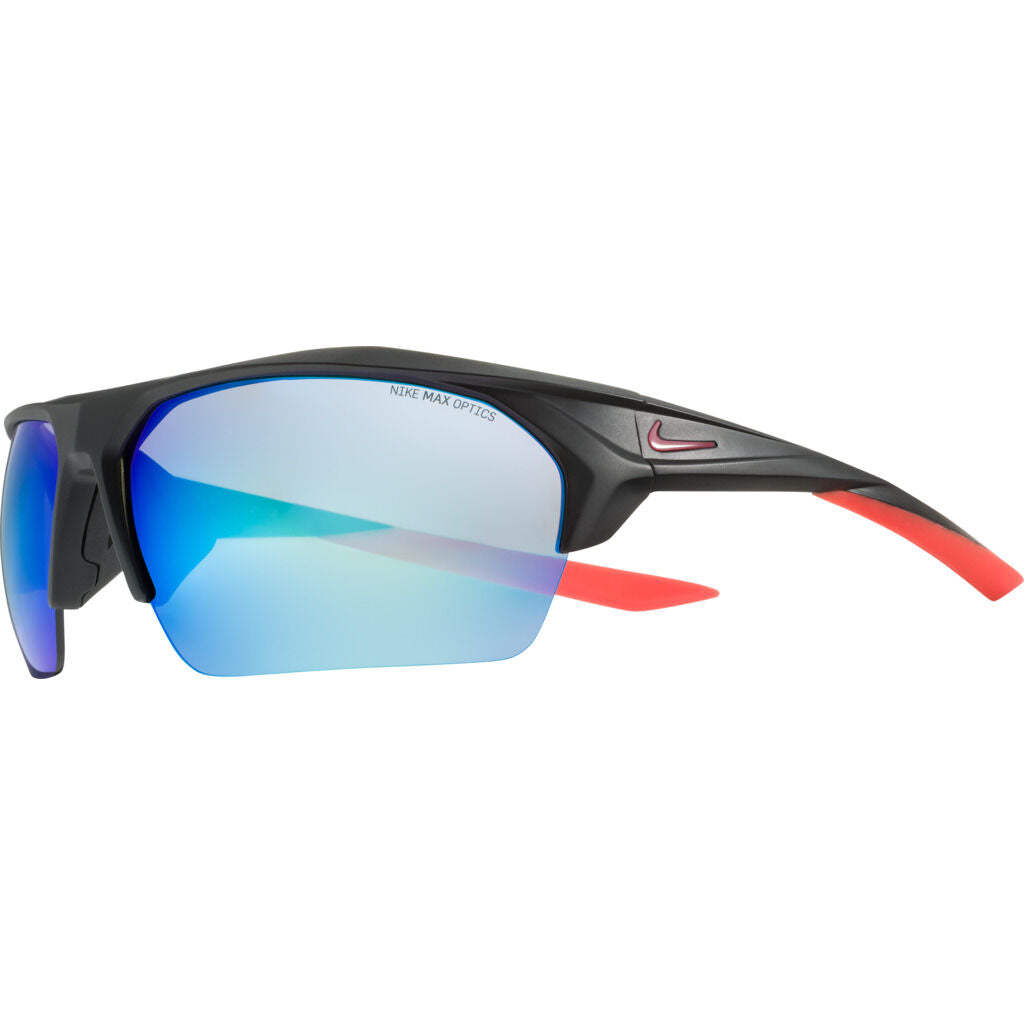 Nike Terminus Mirrored Sunglasses|Matte Black / Noble Red Grey W/ Blue Mirror EV1031-064