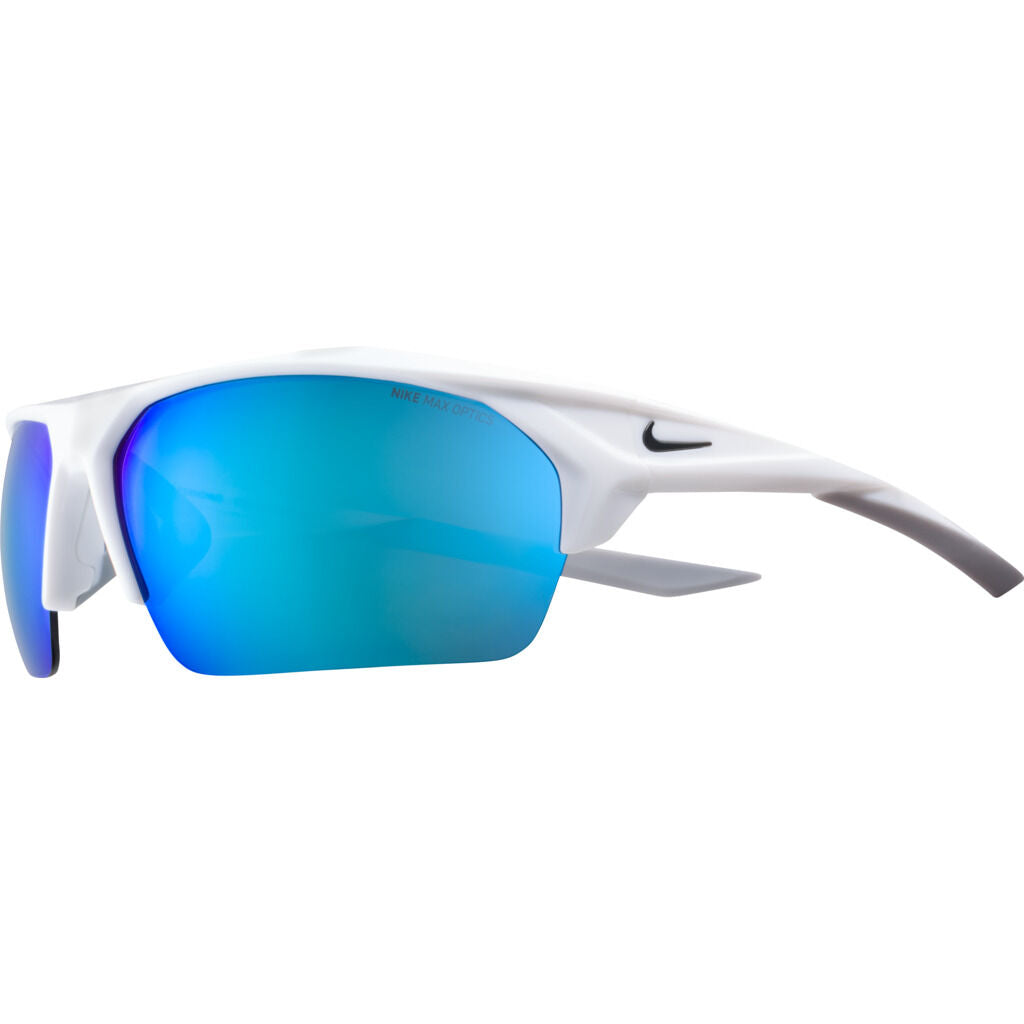 Nike Terminus Mirrored Sunglasses|White/Anthracite Grey W/ Ml Blue Mirror EV1031-104