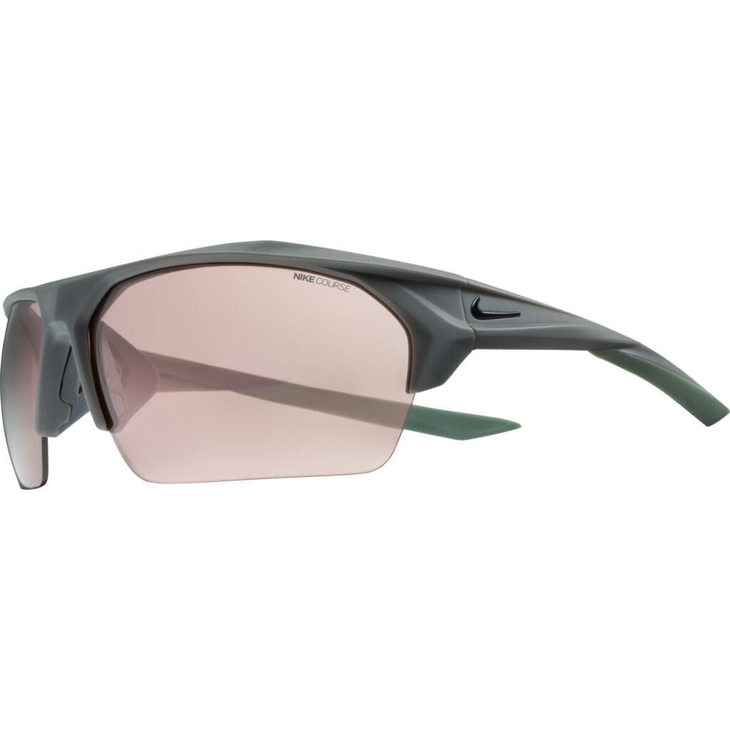Nike Terminus Mirrored Course Tint Sunglasses|Matte Dark Grey/Black Course Tint W/ Electric Mirror EV1069-012