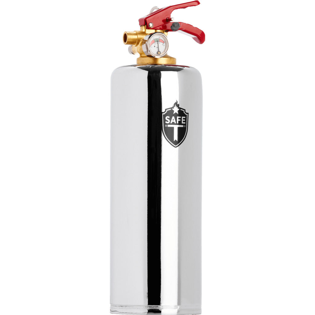 Safe-T Designer Fire Extinguisher | Industrial -Chrome EX1006