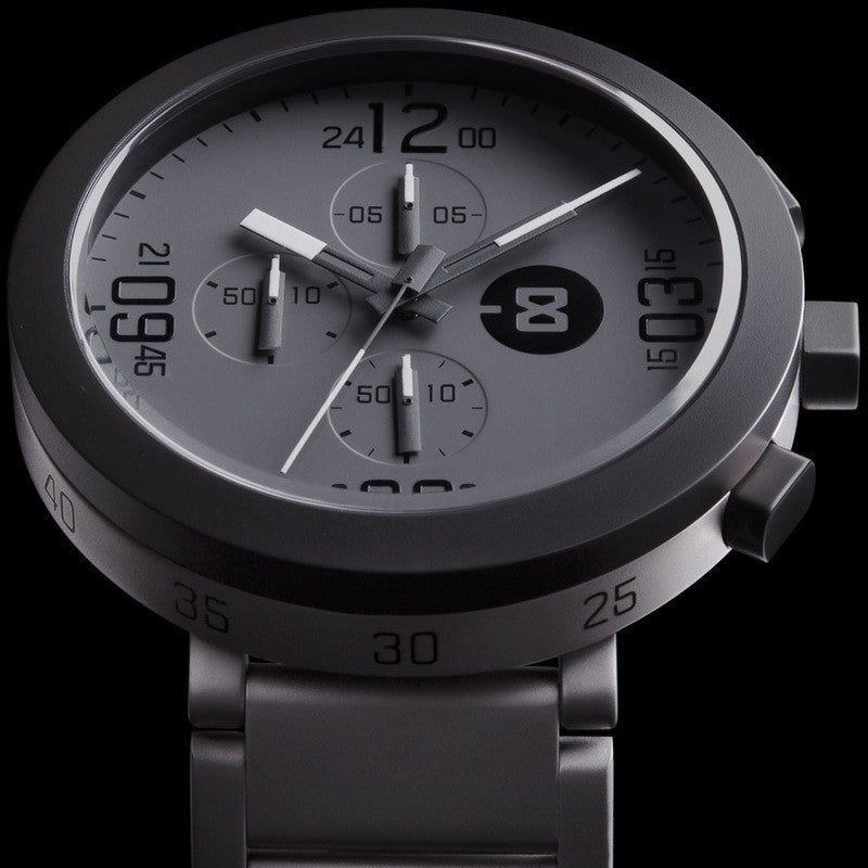 Minus-8 Edge Gray/Charcoal Chronograph Watch | Steel