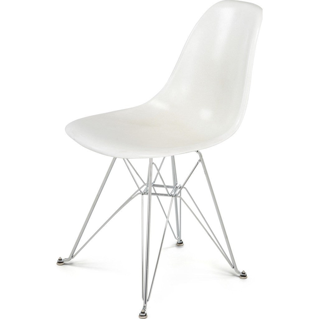 ... Modernica Case Study Eiffel Tower Side Shell Chair | Chrome/Oatmeal  FIB W  ...