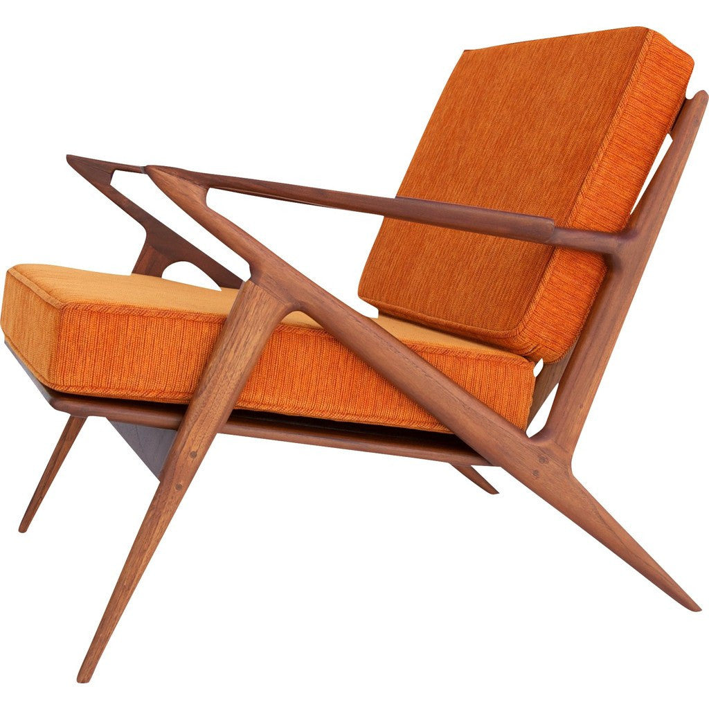 Bowery & Grand BG003-01 Electric Orange Chair | Polaris Z