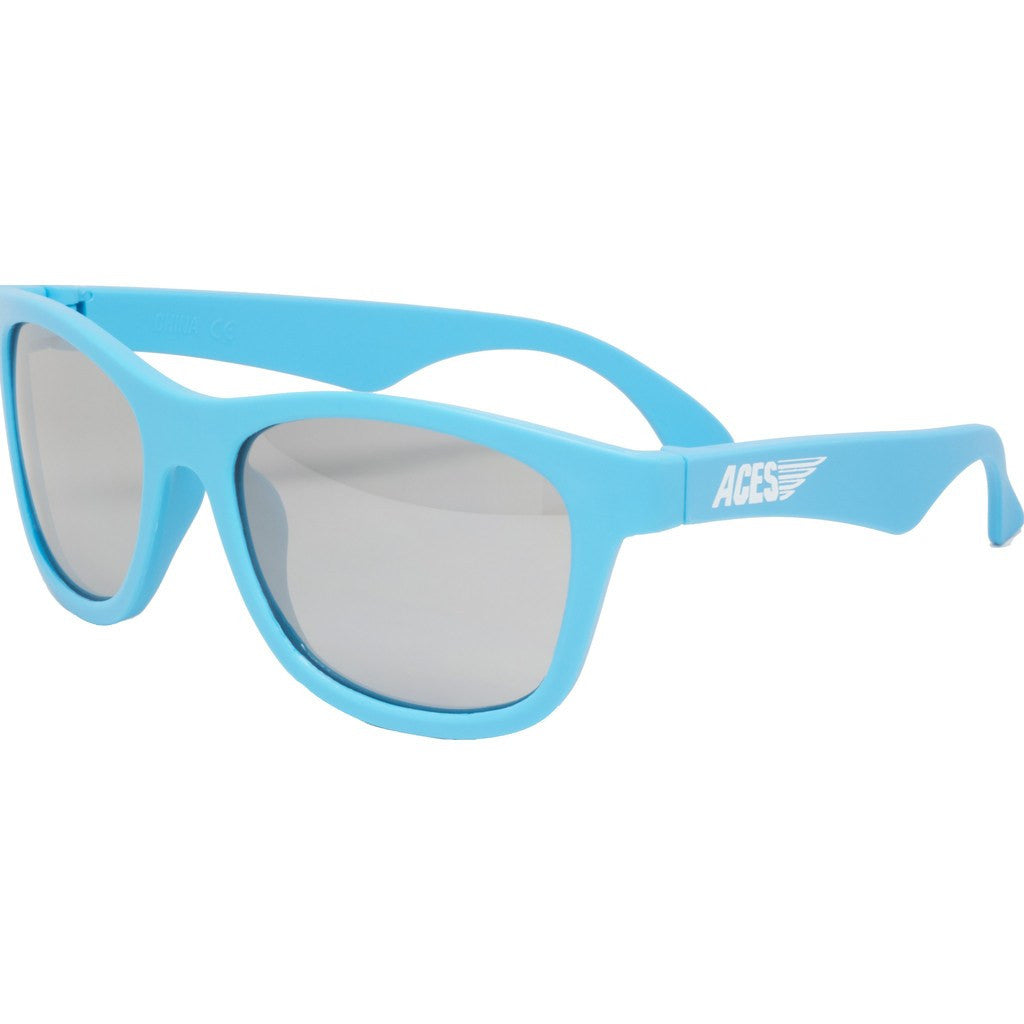 Babiators Aces Navigators Electric Blue Kids Sunglasses | Mirrored Ages 7-14
