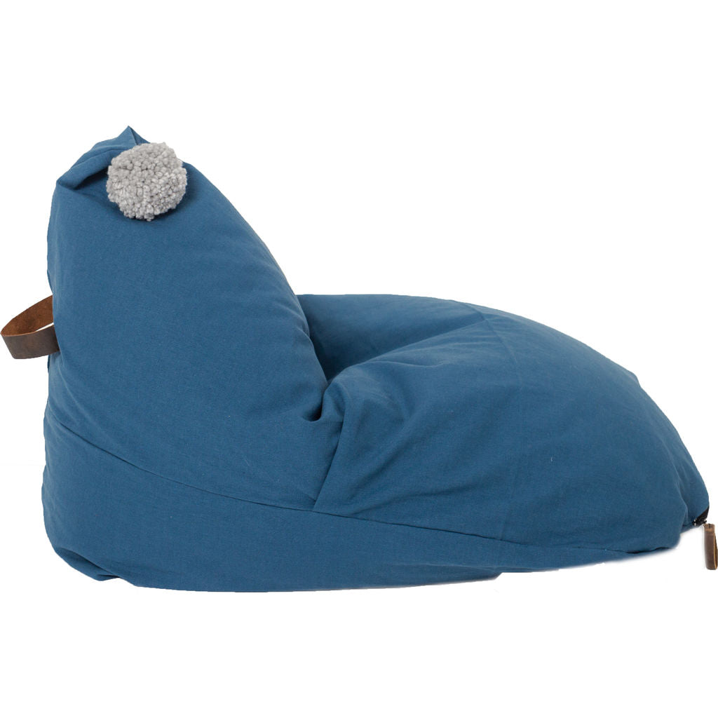 Wild Design Lab Elliot Bean Bag Chair Cover | Navy Blue BBCE ...