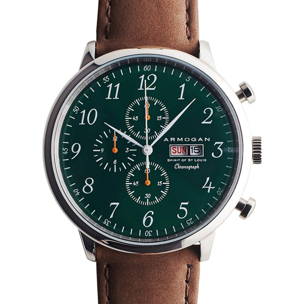 Armogan Spirit of St. Louis Chronograph Watch | Emerald Green FGSOSL08EG