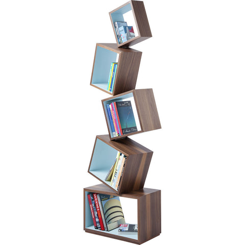 Malagana Equilibrium Walnut Wood Bookcase | Celeste EQ-100 CE