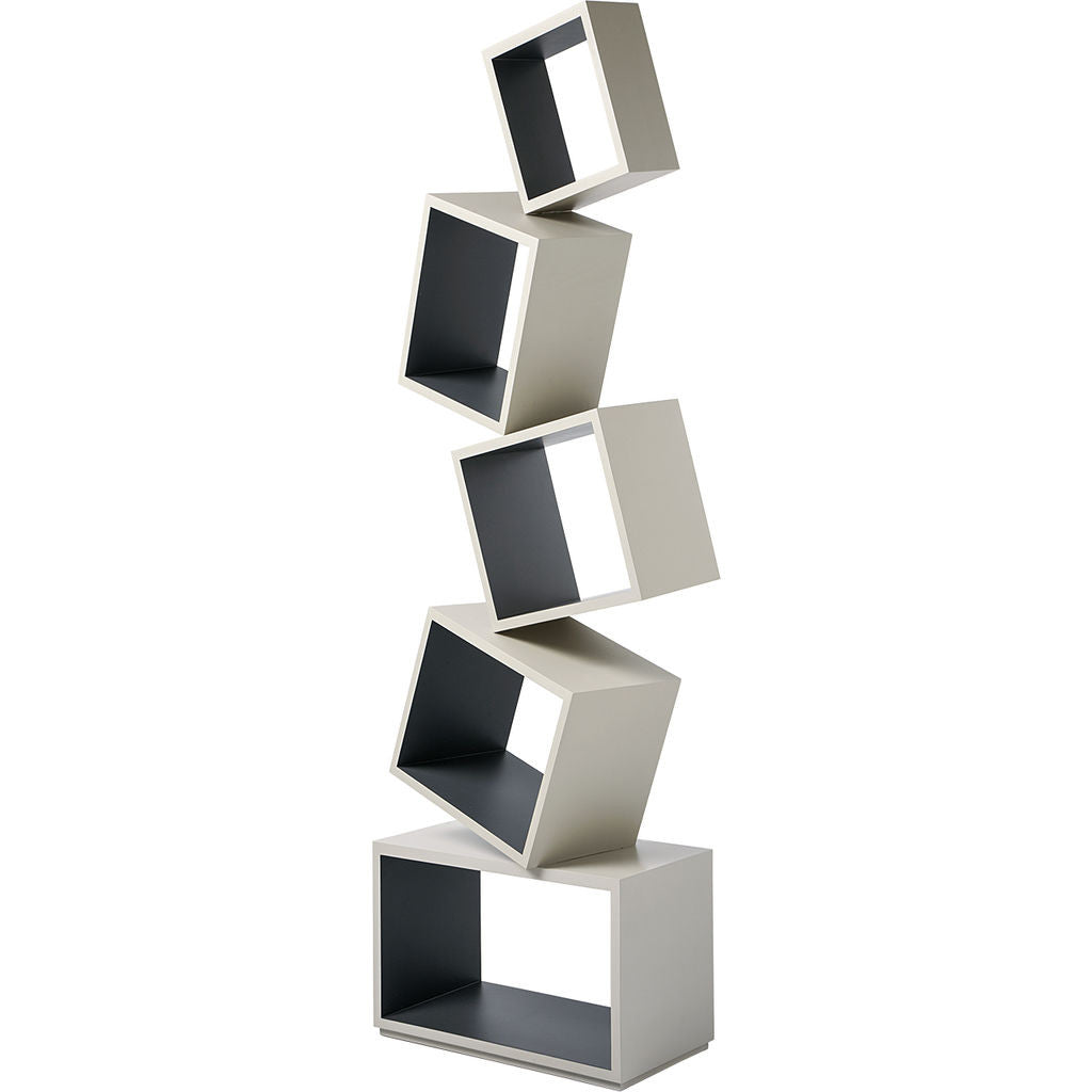 Malagana Equilibrium Modern Light Bookcase | Coal EQ-101 CO