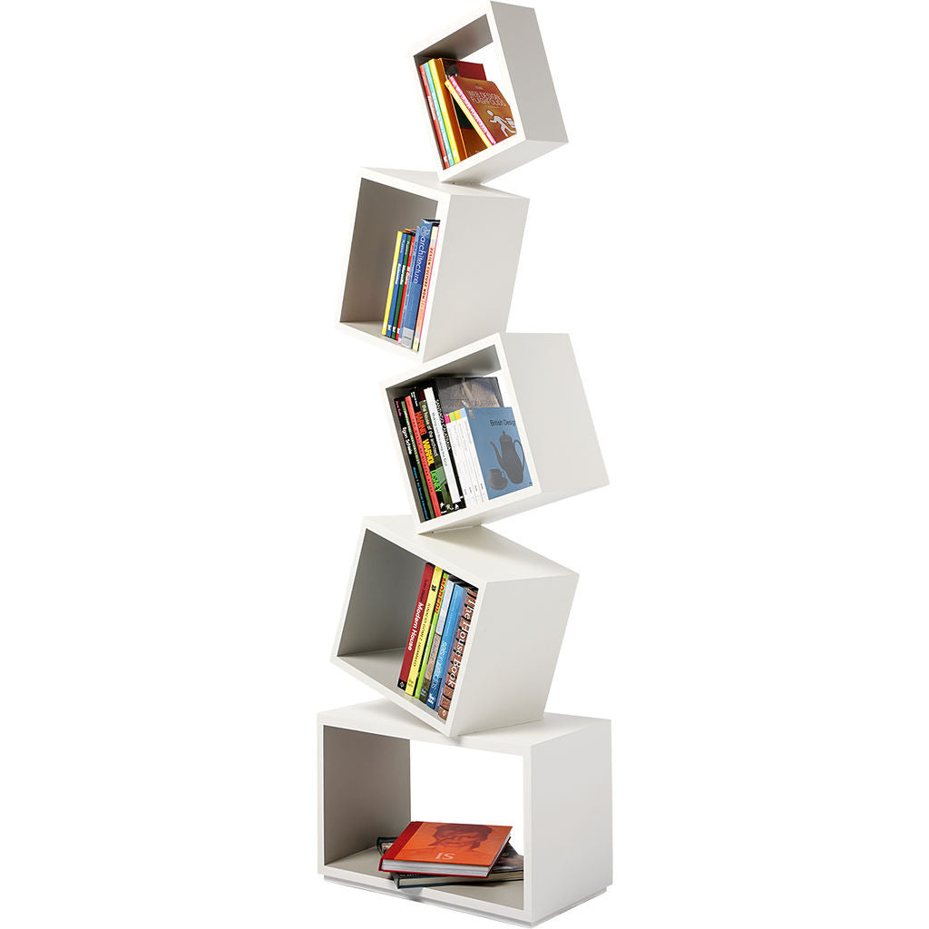 Malagana Equilibrium Modern Light Bookcase | Ivory EQ-101 IV