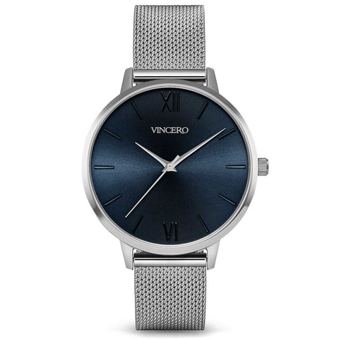 Vincero Women's Eros Quartz Turkish Blue Watch | Silver Mesh Strap Sil-BluM-E31