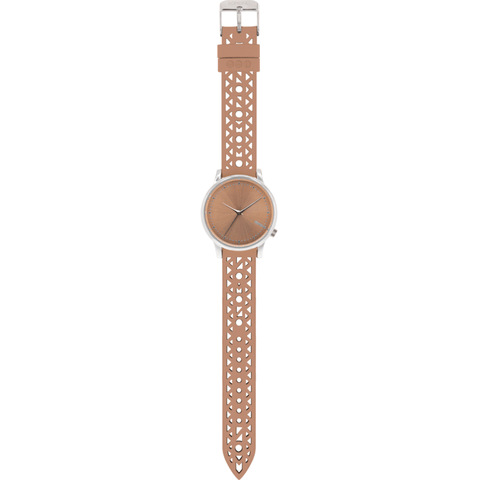 Komono Estelle Cutout Watch | Seashell Silver