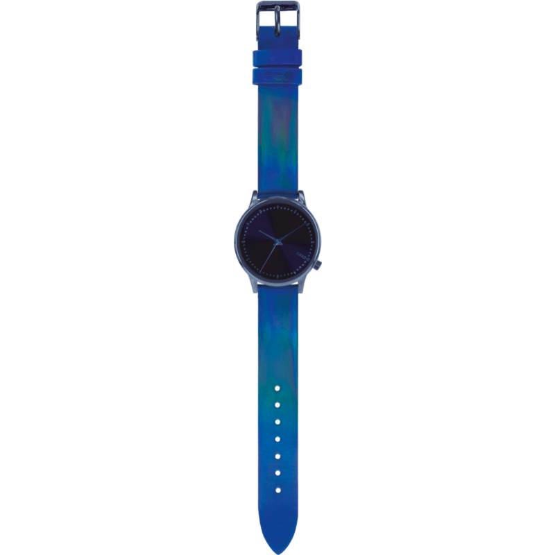 Komono Estelle Watch | Iridiscent Cobalt