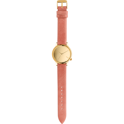 Komono Estelle Mirror Watch | Gold/Blush KOM-W2870