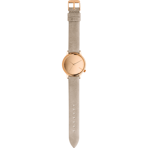 Komono Estelle Mirror Watch | Rose Gold/Grey KOM-W2872