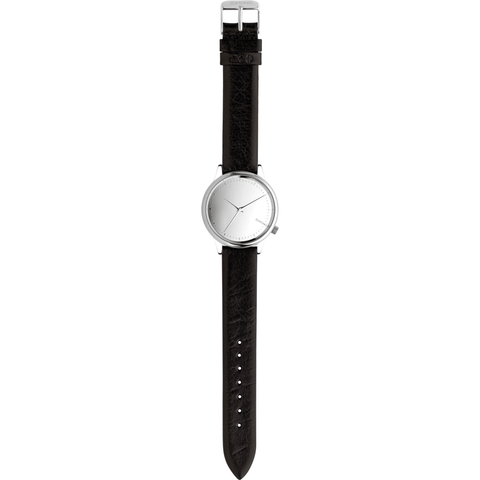 Komono Estelle Mirror Watch | Silver/Black KOM-W2871