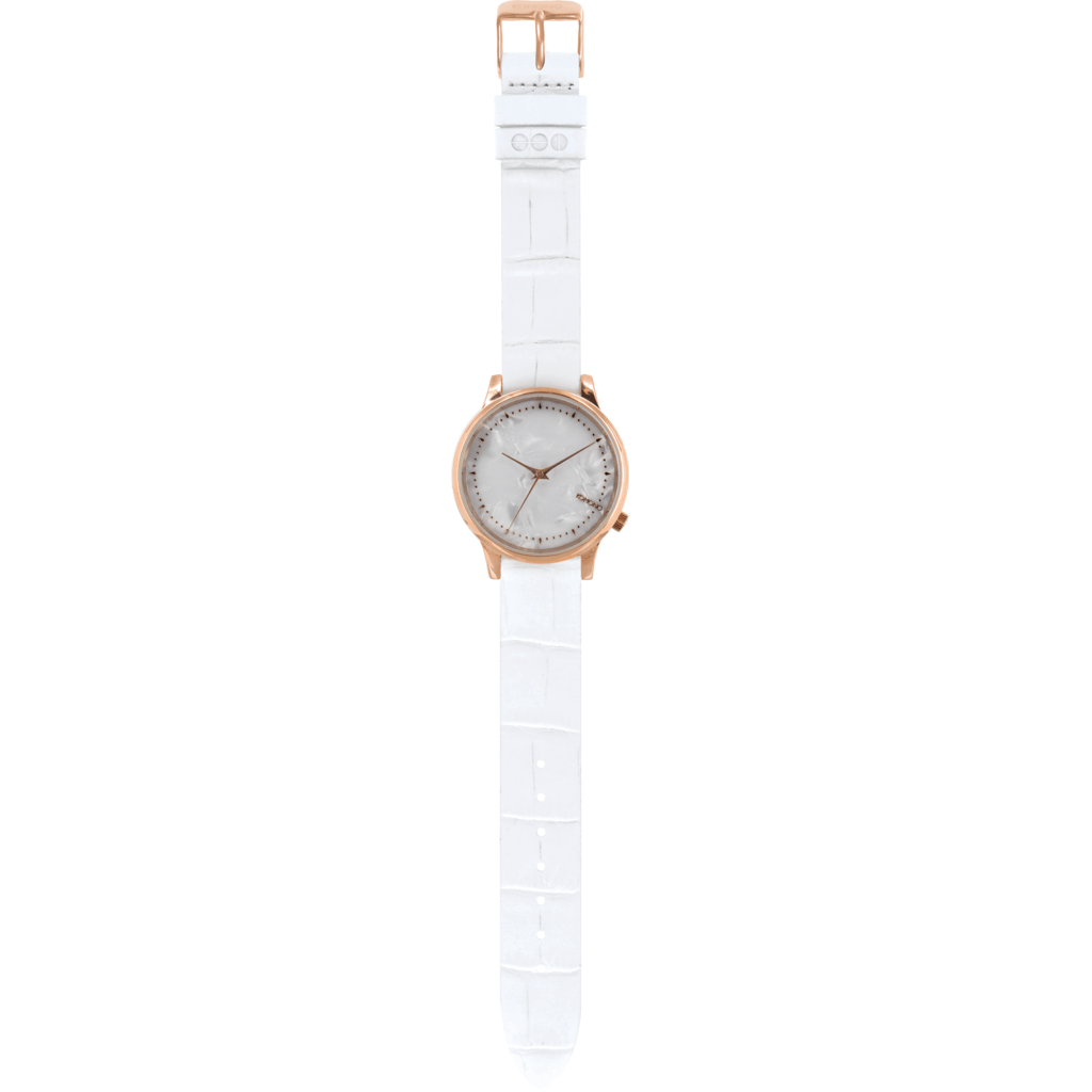 Komono Estelle Monte Carlo Watch | White Croc