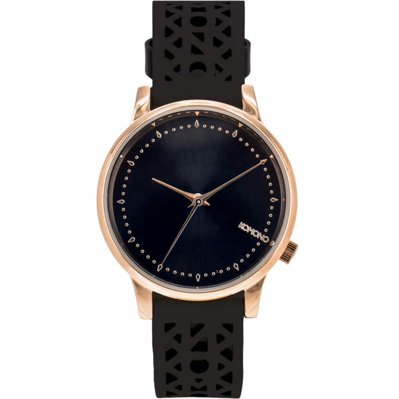 Komono Estelle Cutout Watch | Black Rose