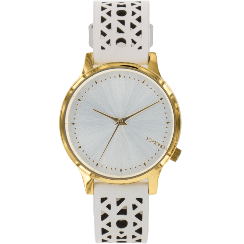 Komono Estelle Cutout Watch | White Gold