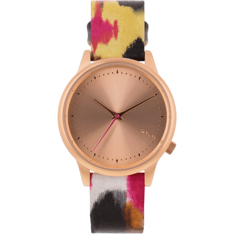 Komono Estelle Watch | Aquarelle Pink