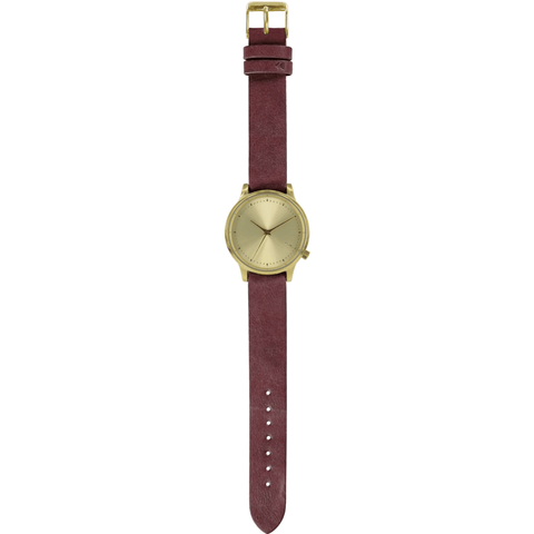 Komono Estelle Classic Watch | Burgundy KOM-W2452