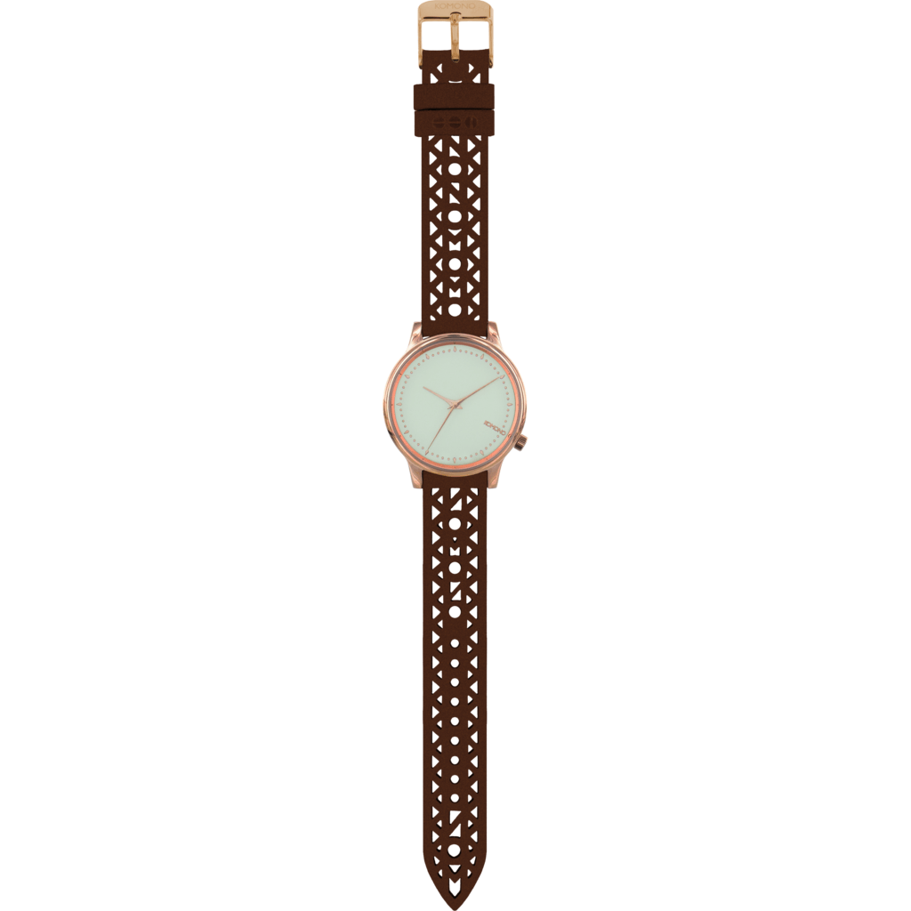 Komono Estelle Cutout Watch | Cognac