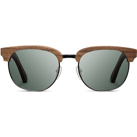 Shwood Eugene Original Sunglasses | Walnut & Silver / G15 Polarized