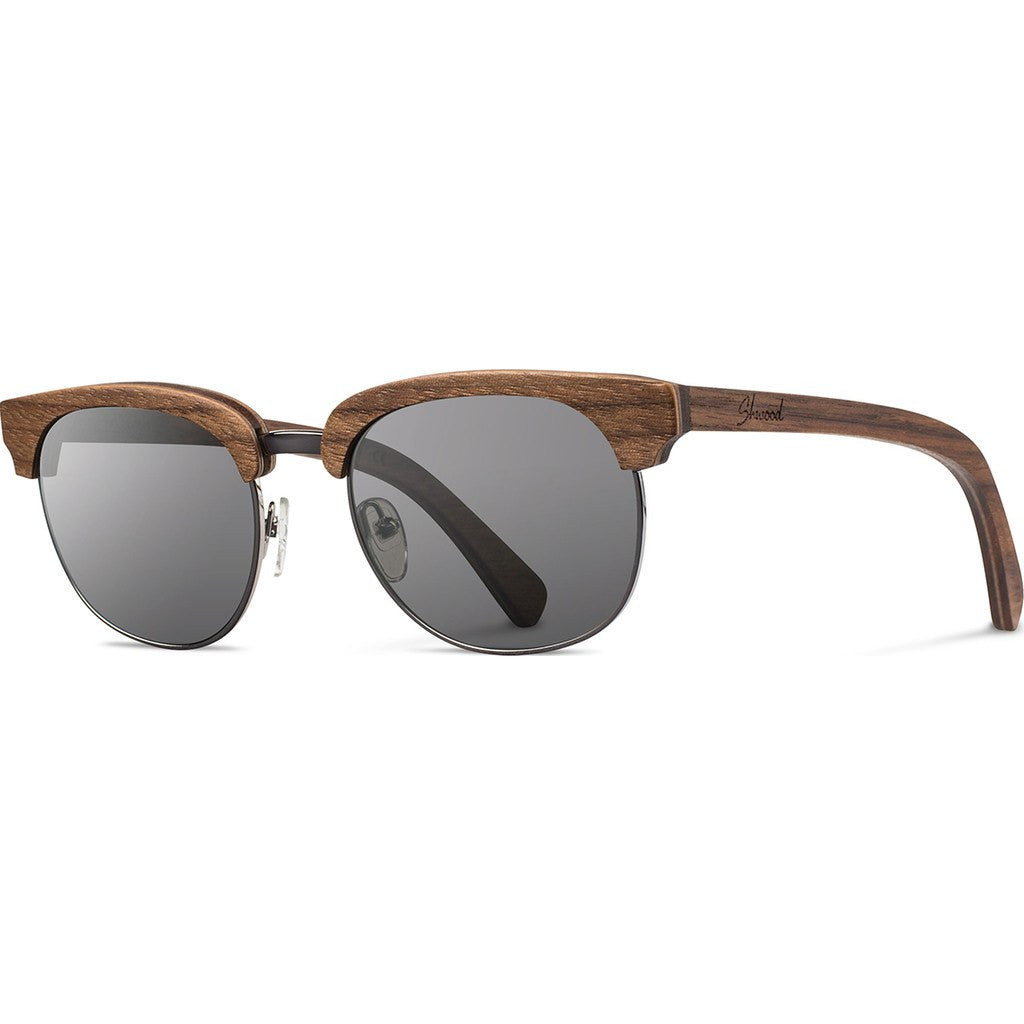 Shwood Eugene Original Sunglasses | Walnut Silver / Grey WOEWSG