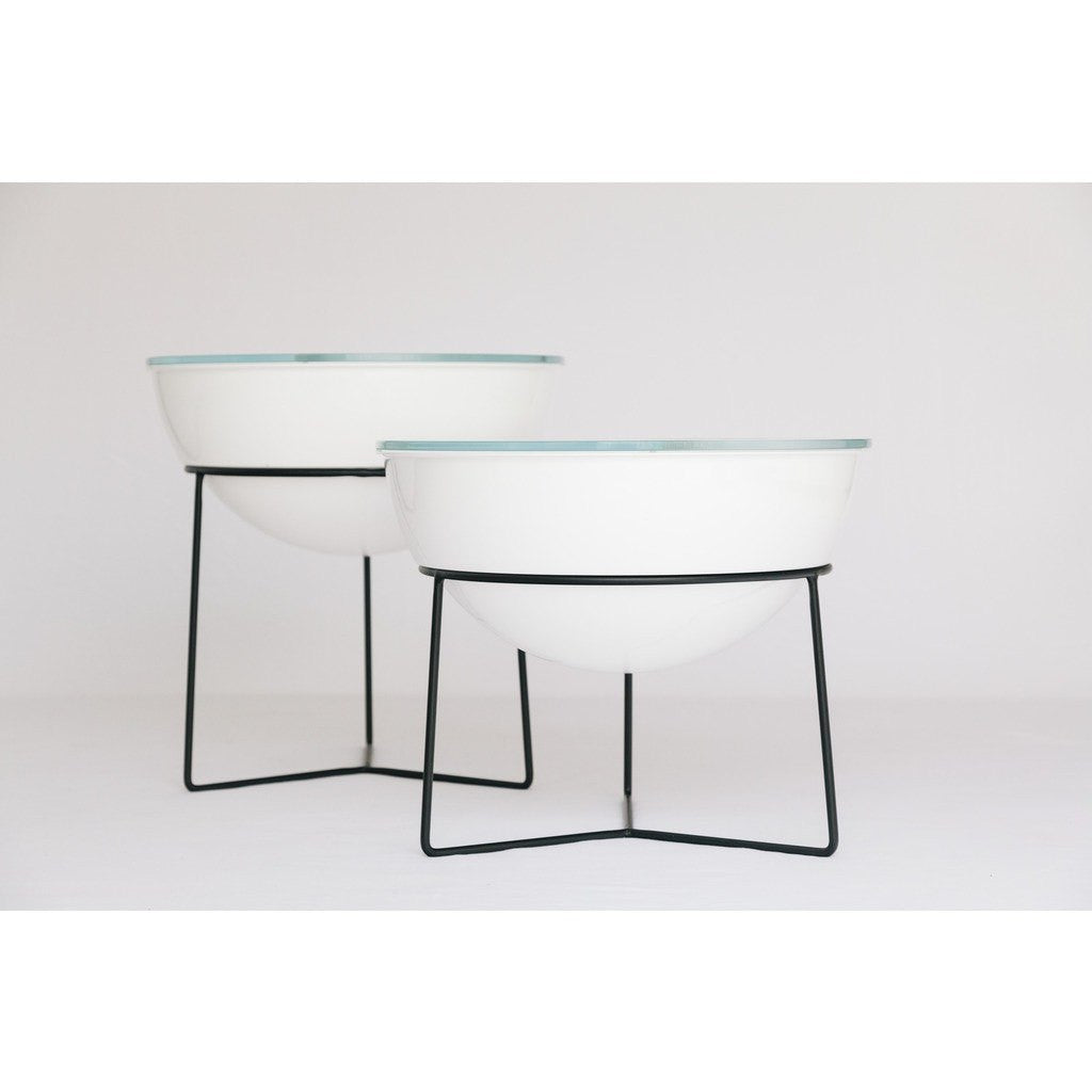 Object Interface Everything Table | Tall White/Black ET1-T