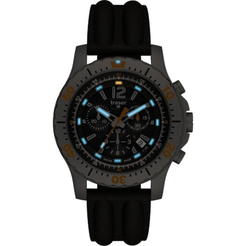 traser H3 Extreme Sport Chronograph Watch | Silicone Strap 100183