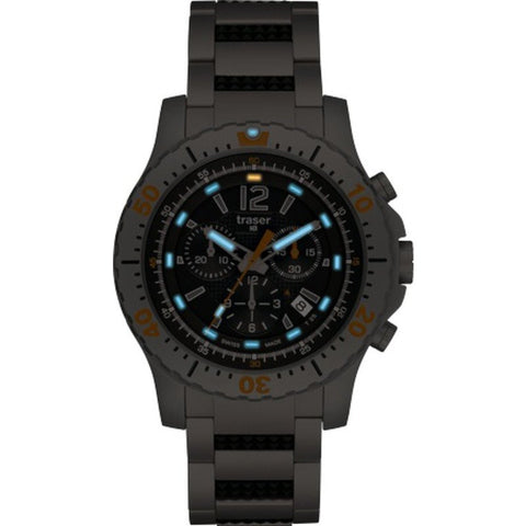 traser H3 Extreme Sport Chronograph Watch | Steel Strap 100213