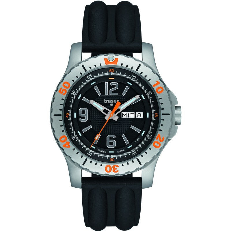 traser H3 Extreme Sport P6602 Steel Men's Watch | Black Silicone Strap